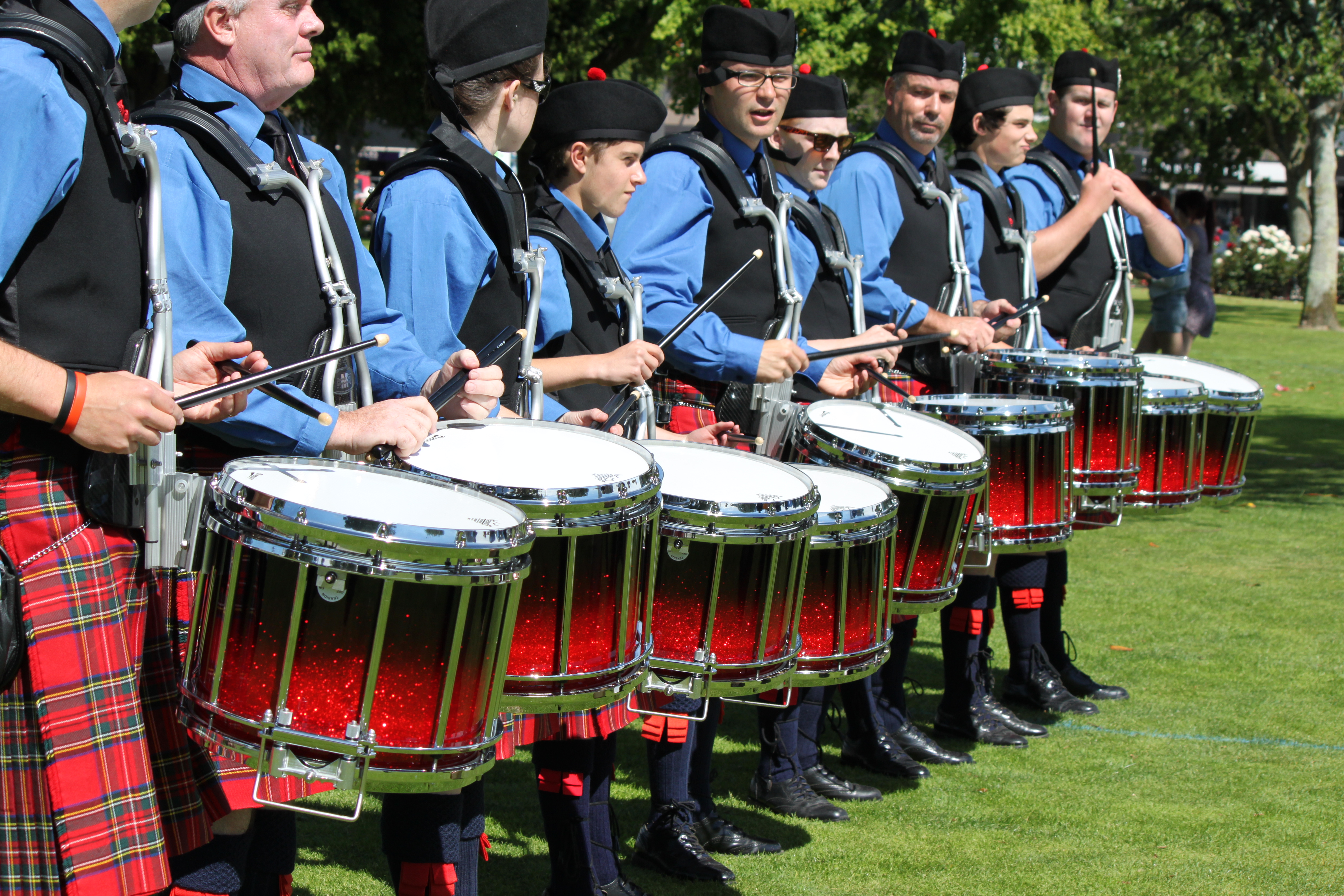 Canterbury Caledonian Pipe Band Drum Corps.